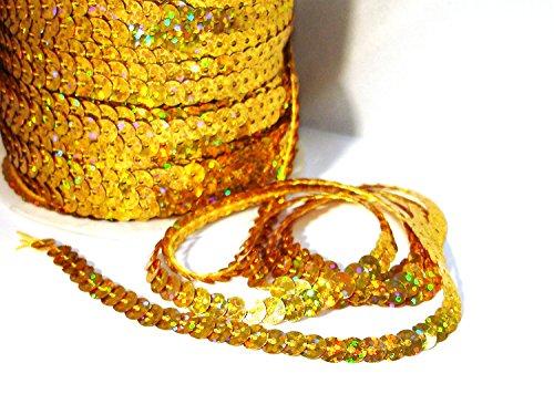 Pailettenband, 5m, gold/Holo, - Bauchtanz Kostüm Für Verkauf