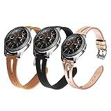 Yayuu Compatible 22mm Cuir Bracelet de Montre Samsung Galaxy Watch 46mm Véritable...