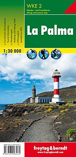 La Palma, mapa excursionista WKE 2. Escala 1:30.000. Freytag & Berndt.: Walking Map (Wander Karte) por VV.AA.