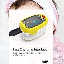 LiuXi Muñeca Monitor de presión Arterial Oxímetro sanguíneo Medidor de presión Arterial Niños Niños Batería de