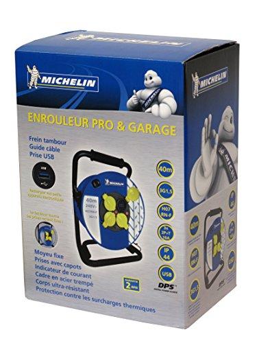 Michelin BTEM41P54 Profi-Kabeltrommel 40 m H07RNF Kabeltrommel, 3 g, 1,5 mm, mit USB-Anschluss - 2