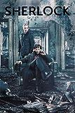 Sherlock - Destruction - Sit - BBC Fernsehserie Poster Plakat Druck - Größe 61x91,5 cm + 1 Ü-Poster der Grösse 61x91,5cm