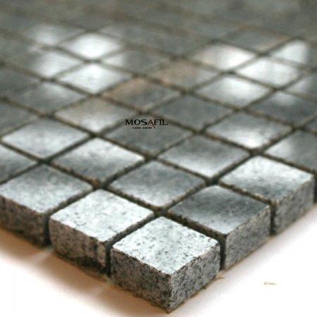 Granit Mosaik Fliesen 15x15x8mm Tiger -