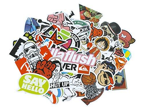 Smartkey Vinyl Sticker mit diversen Comic, Brands, etc. Motiven, Menge: 100 Stück