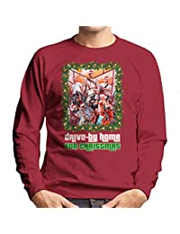 Coto7 Grand Theft Auto Drive by Home For Christmas Mens Sweatshirt