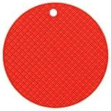 Demarkt Silikon Topfuntersetzer rund rutschfeste hitzebeständige Topflappen Getränke Untersetzer Topf Untersetzer (Rot)