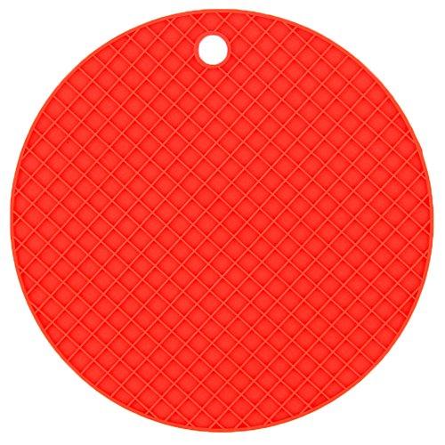 LAAT Dessous de Plat en Silicone Alimentaire Souple Anti-chaleur et Antidérapant Maniques en Silicone Pliable Tapis en Silicone pour Verre Bol Casserole