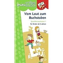miniLÜK: Vom Laut zum Buchstaben: Sprachlernwerkstatt 1 - Vorübungen zum Lesenlernen für Kinder von 5 - 7 Jahren