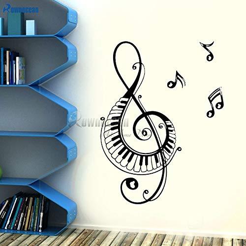 zqyjhkou Wohnkultur Wand Vinyl Aufkleber Hinweis Musik Audio Kopfhörer Wanddekorationen Wohnzimmer Wandbild E615 83x110 cm (Maus Minnie Kuchen-kits)