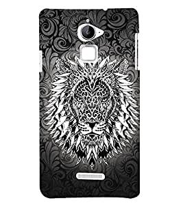 Tatto Manly Lion 3D Hard Polycarbonate Designer Back Case Cover for Coolpad Note 3 Lite