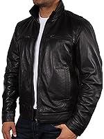 Mens Leather Biker jacket Black Brand New Real Leather Coat Designer X-Small-5XL