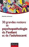 30 grandes notions de psychopathologie de l'enfant et de l'adolescent (Psychologie clinique)