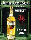 John Jameson und Sons Whiskey 6Years Old Vintage Style Kühlschrankmagnet aus Acryl oder kann verwendet werden eine eine Gedenktafel
