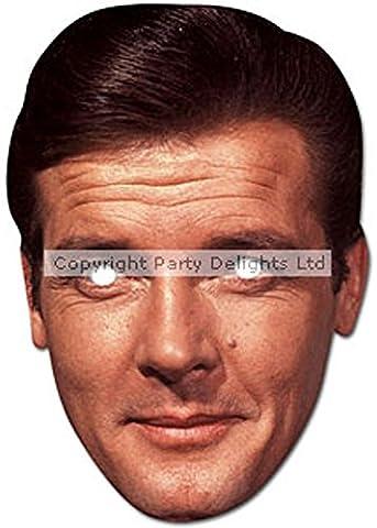 Roger Moore 007 Bond Karte Gesichtsmaske (James Bond 007 Kostüme)