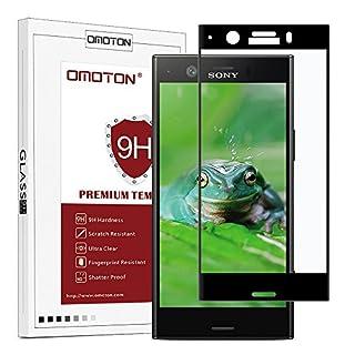 OMOTON Sony Xperia XZ1 Compact [4.6 Zoll] Panzerglas Schutzfolie, Anti- Kratzer, Bläschenfrei,9H Härte, HD-Klar, volle Abdeckung