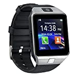 kxcd Bluetooth Smart Watch dz09 Smartwatch GSM SIM Karte mit Kamera für Android iOS (Silber)