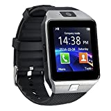 kxcd Bluetooth Smart Watch dz09 Smartwatch GSM SIM Karte mit Kamera für Android iOS (silver)
