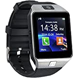 kxcd Bluetooth Smart Watch dz09 Smartwatch GSM SIM Karte mit Kamera für Android iOS (Silber)