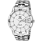 #3: Fogg Analog White Day and Date Dial Men's Watch 2038-WH