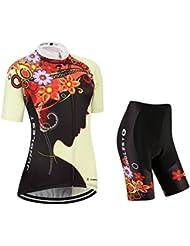 Maillot de Cyclisme Femme Manches Courtes jersey(S~5XL,option:Cuissard,3D Coussin) N219