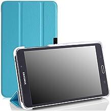 MoKo Samsung Galaxy Tab 4 7.0 / Tab 4 Nook 7 Funda - Ultra Slim Foldable Ligera SmartCover Case para Samsung Galaxy Tab 4 7.0 Pulgadas 2014 Tableta, Azul Claro (NO APTA PARA LA Tab 3 7.0)