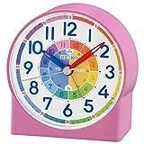 Seiko QHE153P Childrens Time Teaching Alarm Clock - Pink {4517228832345}