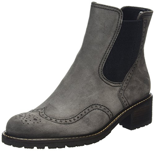 Gabor Shoes 56.091 Damen Kurzschaft Stiefel, Grau (dark grey (Mel.) 39), 40.5 EU (7 Damen UK) - Fabelhafte Leder-stiefelette