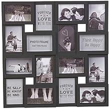 Grande Múltiple Marco De Fotos Collage Apertura Decoración de pared fotos - Negro, ...