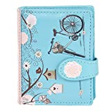 Shagwear Junge-Damen Geldbörse, Small Purse Designs: (Retro Postkarte blau/Vintage Post Card -Blue)