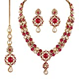 I Jewels Traditional Gold Plated Stone N...