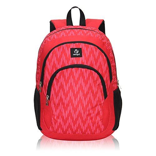 Imagen de veevan school bags  para niños  para universitarios  para portátil para niñas rojo