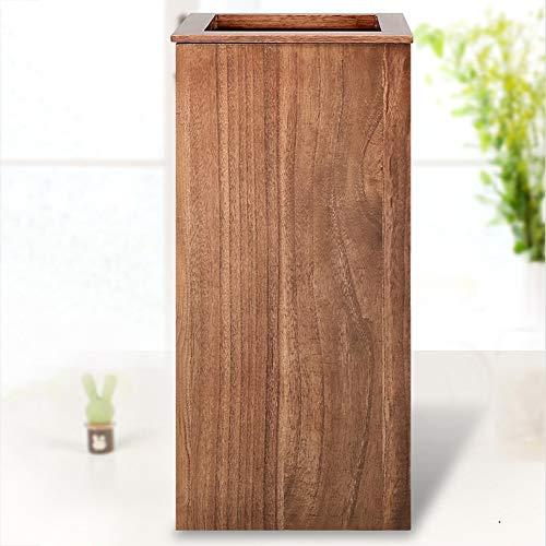 Mülleimer Holz Bin Office Bin Aus Strapazierfähigem Holz Retro Praktische Aufbewahrungsbox Für Bad Küche Oder Pantry-65 * 30 * 30cm Brown -