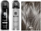 MANE HAIR THICKENING SPRAY WITH SHINE & SEAL AND CONTROL SPRAY - all colours available - DIRECT FROM THE MANUFACTURER (Black)
