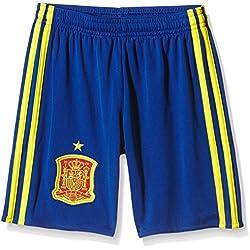 adidas 1ª Equipación Federación Española de Fútbol Euro 2016 - Pantalón corto para niños, color azul/amarillo/rojo, talla 152