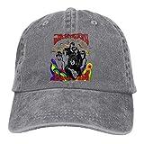 Photo de HVCMNVB Men's & Women's Washed Dyed Hat Adjustable with Jefferson Airplane Printing Black par HVCMNVB