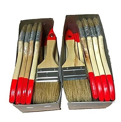 12 Pinsel Flachpinsel 50 mm Malerpinsel Lackpinsel Lackierpinsel Naturborsten von M+T POLYESTER - TapetenShop