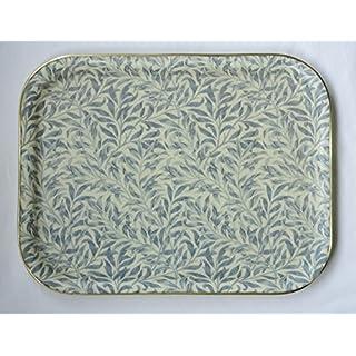 Arnold Designs Quality Fibre Glass Tray 43x33cm Large Wiliam Morris Blue Willow