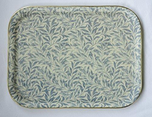 Qualität Fiberglas Tablett in exklusiver William Morris Blue Willow Design Blue Willow
