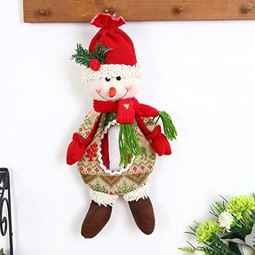 TPulling Weihnachtsmann Schneemann Elch Weihnachtsverzierung Älterer Puppe-Süßigkeits-Beutel-Geschenk-Beutel (B)