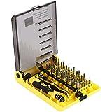 Catuo Kit de 45 Herramientas de Precisión - Destornilladores Pinza Atornillador Prolongador