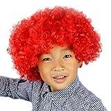 Lazzboy Maskerade Haar Party Disco Lustige Afro Clown Haar Fußball Fan-Kinder Afro Perücke(M,Mehrfarbig D)