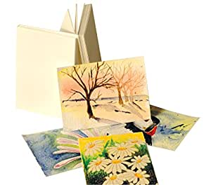 "ARTCOE Paperwave Artists' Trading Cards (ACEO) Pack of 25. 3.5"" x 2.5"" (64 x 89mm) 300gsm watercolour card"
