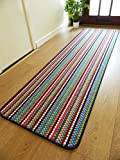 Rugs Superstore NEW MULTI COLOURED MODERN WASHABLE NON SLIP KITCHEN UTILITY HALL LONG RUNNER DOOR MAT RUG (7 SIZES AVAILABLE) (50x80cm)