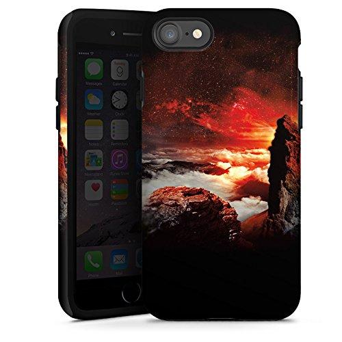 Apple iPhone X Silikon Hülle Case Schutzhülle Wolken Fantasie Berge Tough Case glänzend