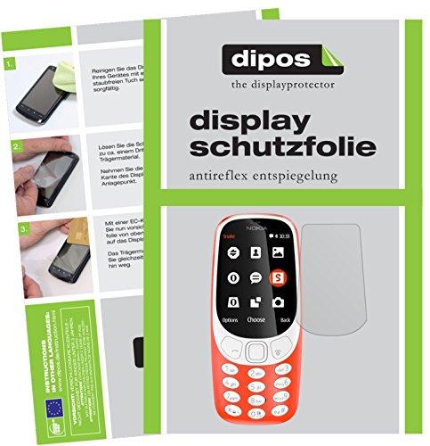 dipos I 2X Schutzfolie matt passend für Nokia 3310 Folie Bildschirmschutzfolie