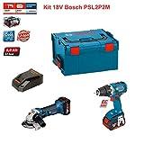 Kit Bosch PSL2P2M (GWS 18-125 + GSR 18 V-EC + Ladegerät AL1860CV + 2 Akkus 5,0 Ah + Koffer L-Boxx 238)