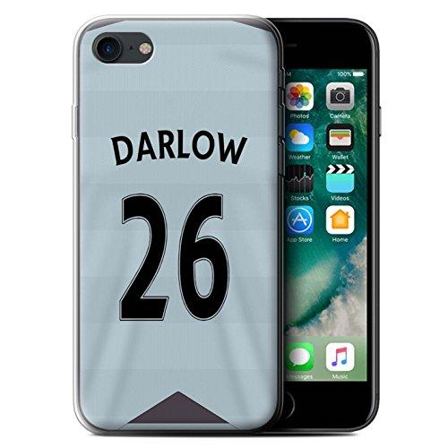 Offiziell Newcastle United FC Hülle / Gel TPU Case für Apple iPhone 7 / Mitrovic Muster / NUFC Trikot Away 15/16 Kollektion Darlow
