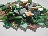 Happy-Mosaic Goldregen Mosaiksteine Grün braun Mix 1000g Lose Glasmosaiksteine Zum Basteln