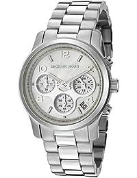 Michael Kors MK5304 - Reloj de mujer de cuarzo plateado con correa de acero (cristal mineral)