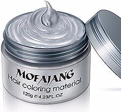 Mofajang Hair Dye Gray Hair color wax one-time molding paste grandma silver grey hair color
